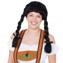 Fraulein Pigtail Wig (Black)