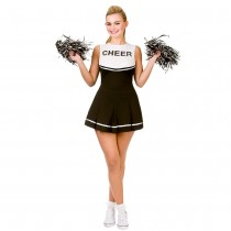 Cheerleader Black / White (Fancy Dress)
