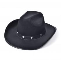 Black Felt Cowboy Studded Hat