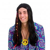 Cool Hippie Wig (Black)