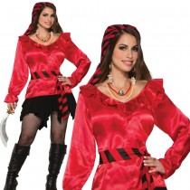 Pirate Lady (Red Blouse)