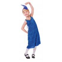 Flapper Dress Blue - Small