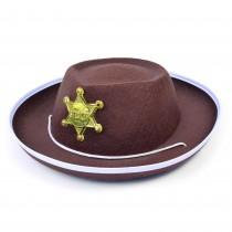 Cowboy Hat Brown Felt  (Childs)