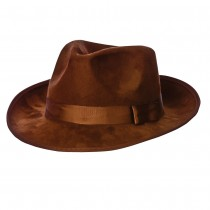Brown Suede Fedora