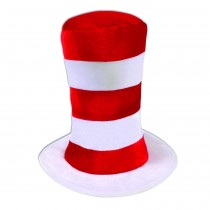 Red/White Striped Top Hat (Adult)