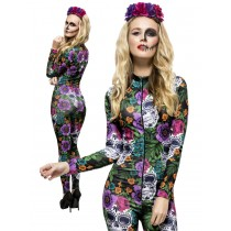 Day Of The Dead Catsuit