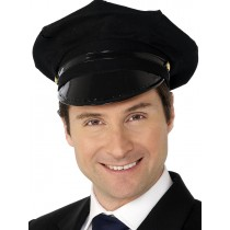 Chauffeur Hat Black (Fancy Dress)