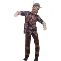 Child Deluxe Zombie Viking Costume (Fancy Dress)