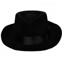 Classic Gangster Hat with Satin Band