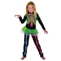 Skeleton Girl Multicoloured - XL