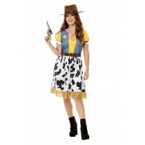 Western Cowgirl Costume, Yellow