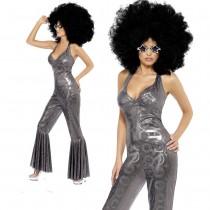 Disco Diva Catsuit Silver