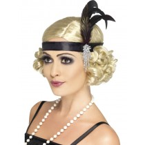 Black Charleston Flapper Headband