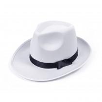 Gangster Hat White Satin Finish