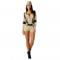 Ghostbuster Female Shorts Playsuit - Small