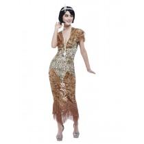 Deluxe 20s Sequin Gold Flapper Costume