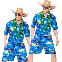 Blue Palm Hawaiian Shirt