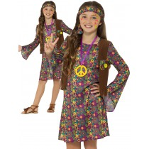 Hippie Girl Costume, with Dress