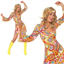 1960s Hippie Shift Dress