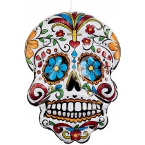Inflatable Day of the Dead Hanging Skull
