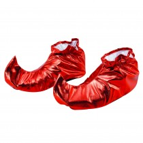 Jester Shoe Covers Red Metallic