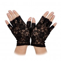 Black Short Lace Gloves