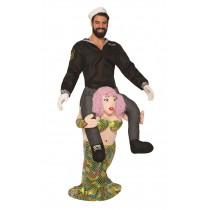 Piggy Back Mermaid Costume