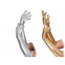 Metallic Gloves Elbow Length