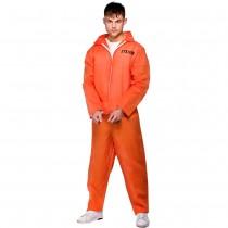 Orange Convict Prisoner Costume