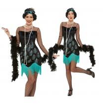 20s Peacock Flapper Costume