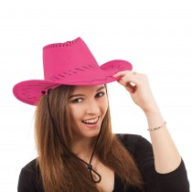 Cowboy Hat Stitched Pink