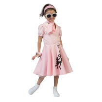 Poodle Dress Pink - Small
