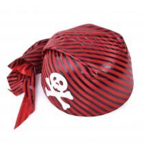 Pirate Skull Hat Red/Black