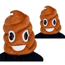 Brown Poop Over Head Mask