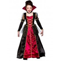 Girls Princess Vampira Fancy Dress
