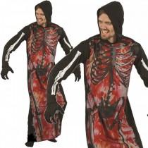 Skeleton On Fire (Hooded Robe)