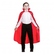 Satin Cape with Collar Red
