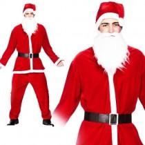 Deluxe Velour 5pc Santa Suit