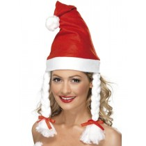 Santa Hat With Plaites