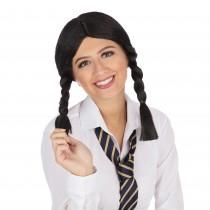 Schoolgirl Black Wig