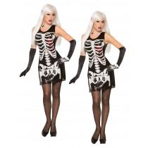 Skeleton Bleeding Heart Sequin Dress