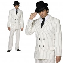 White Gangster Mens Costume