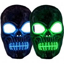 EL Skeleton Mask