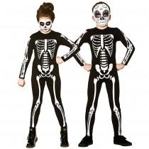 Kids Skeleton Jumpsuit Costume