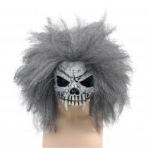 Skull Half Face Mask & Hair