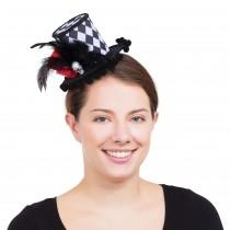 Harlequin Skull Mini Tall Hat