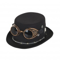 Steampunk Top Hat with Goggles & Gears