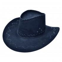 Cowboy Hat Stitched Black