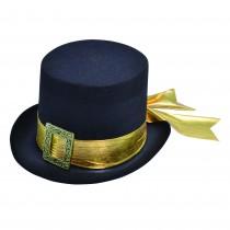 Top Hat Black with Gold Belt
