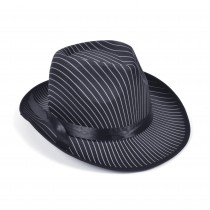 Gangster Hat Pin Striped